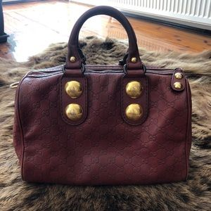 GUCCI Authentic Guccissima Leather GG Boston Bag